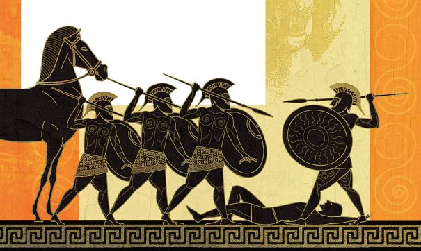 The Iliad is an ancient Greek epic poem in dactylic hexameter, traditionally attributed to Homer. Set during the Trojan War, the ten-year siege of the city of Troy by a coalition of Greek states, it tells of the battles and events during the weeks of a quarrel between King Agamemnon and the warrior Achilles.