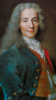 Voltaire A caustic and playful writer whose Candide savaged the complacent optimism of his age; his prolific oeuvre embodied the 18th-century ideals of enlightened despotism, cosmopolitan elitism and cultural elevation; he campaigned vigorously for religious toleration.