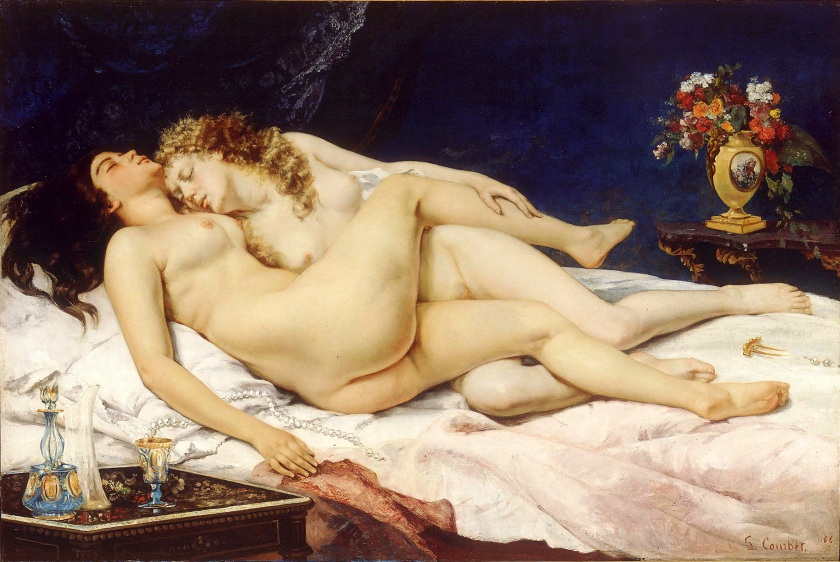 Le Sommeil (Sleep) by Gustave Courbet (1866).