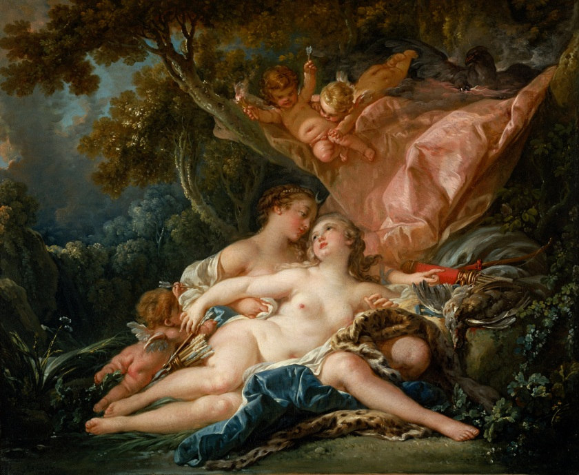 Jupiter in the Guise of Diana, and the Nymph Callisto, by François Boucher (1759).