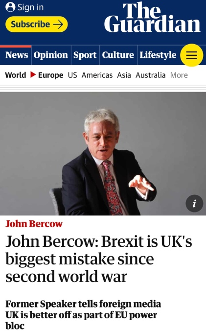 Brexit a bloody farce.