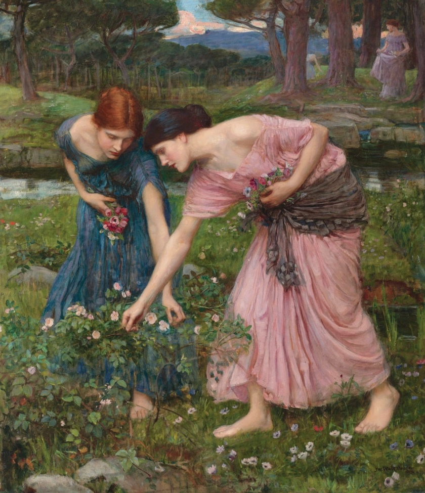 Gather Ye Rosebuds While Ye May, by John William Waterhouse