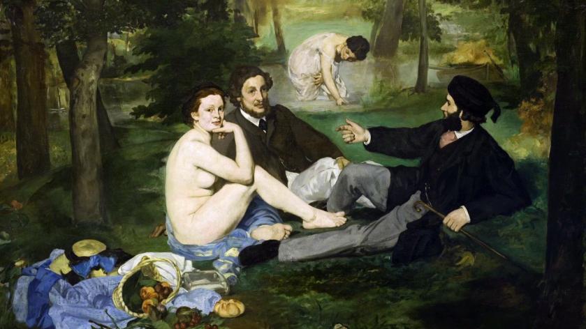 Déjeuner sur l'herbe, by Édouard Manet, 1863