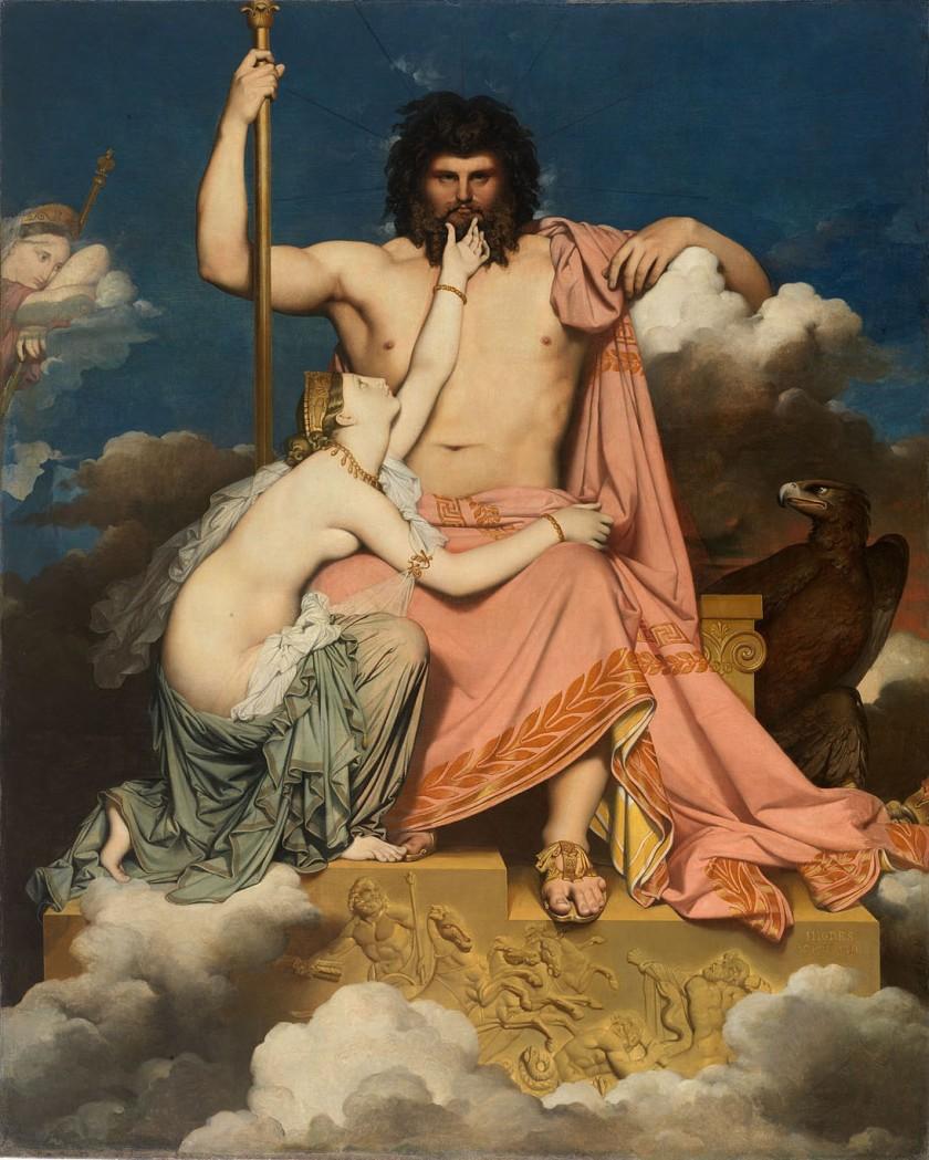 Júpiter y Tetis, by Auguste Ingres (1811)