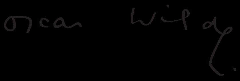 Oscar Wilde's signature