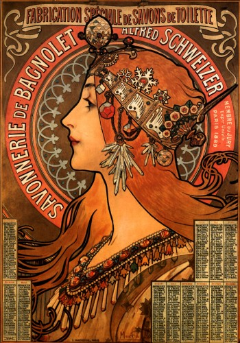 Art nouveau, orignal poster advertising soap.