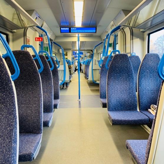 By train --