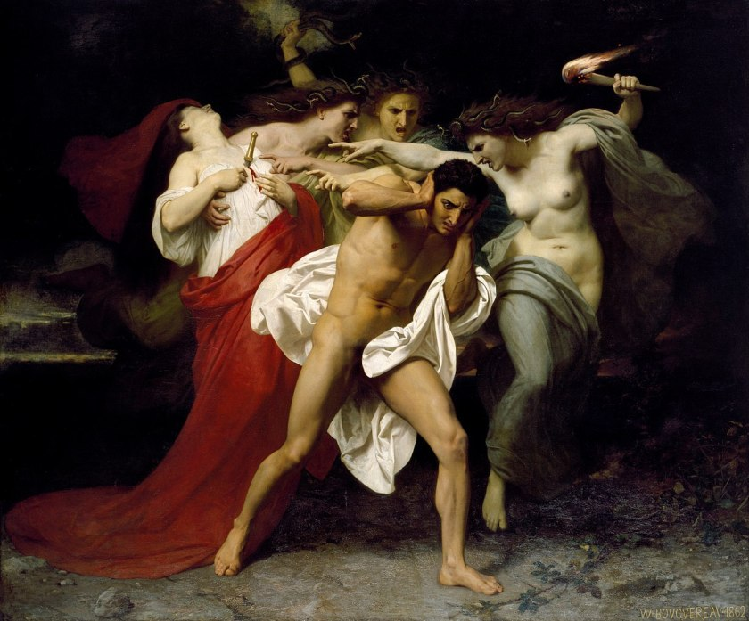 Orestes Pursued by the Furies, by William Adolphe Bouguereau (1862)