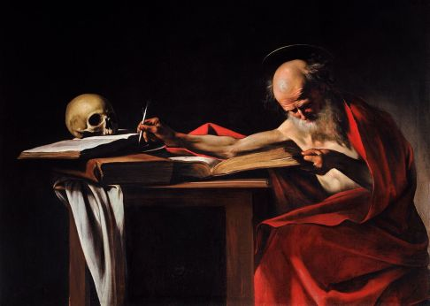 """Saint Jerome Writing"" By Caravaggio (c. 1606)"