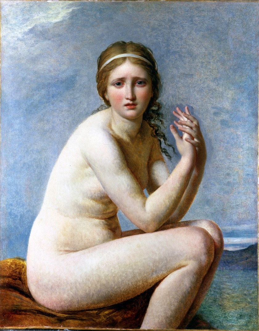 Psyche Abandoned, by Jacques Louis David (1795)