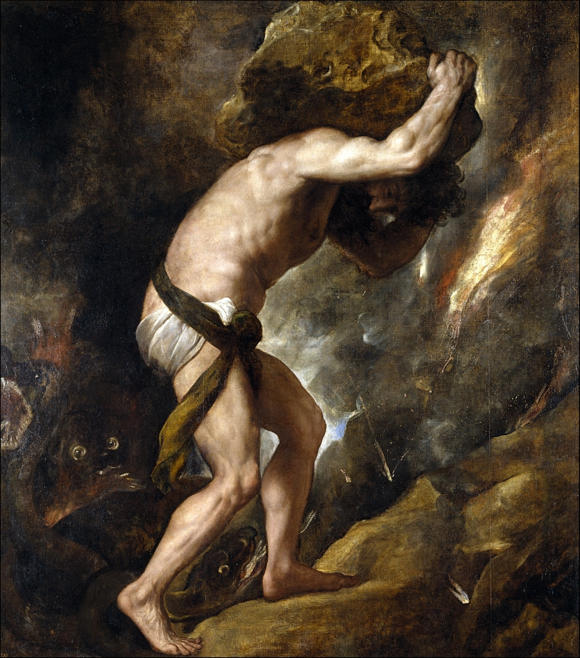 Sisyphus (1548–49) by Titian, Prado Museum, Madrid, Spain