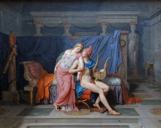 The Love of Paris and Helen By Jacques-Louis David (1788)