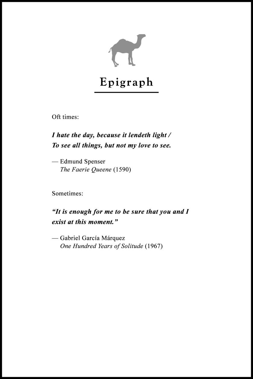 Epigraph // Carpe Noctem.