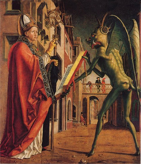 Saint Wolfgang and the Devil by Michael Pacher (1475 )
