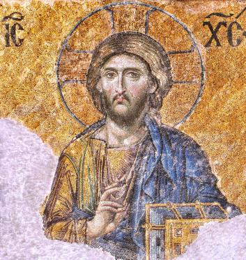 Christ Pantocrator mosaic @ Hagia Sophia