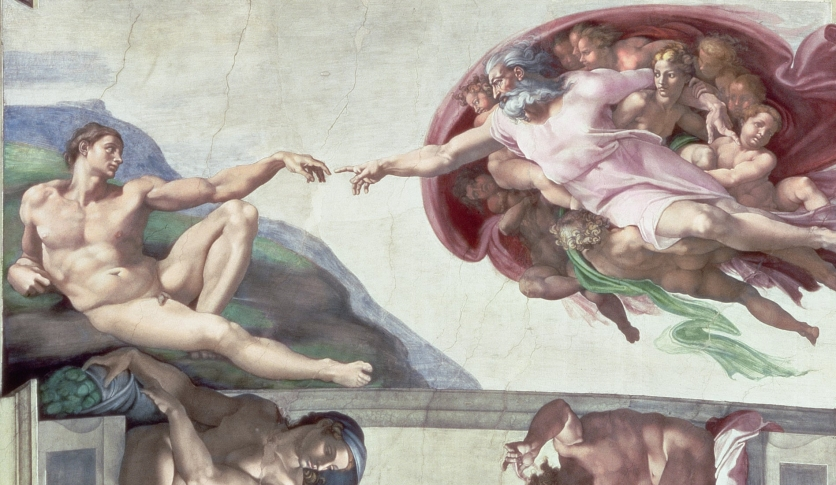 Michelangelo's God @ the Sistine Chapel at the Vatican
