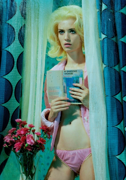 """Miles Aldridge (born 1964, London) is a fashion photographer and artist. Harland Miller is an English artist born in Yorkshire in 1964. He studied at London's Chelsea School of Art, graduating in 1988. Notable artworks by Miller include his giant canvases of Penguin Book covers. The paintings include sardonic statements, e.g., """"Whitby - The Self Catering Years,"""" """"Rags to Polyester - My Story"""" and, """"Incurable Romantic Seeks Dirty Filthy Whore."""""""