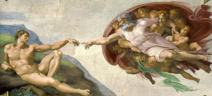'Creazione di Adamo' (c. 1512) by Michelangelo (b. 1475 – d. 1564)