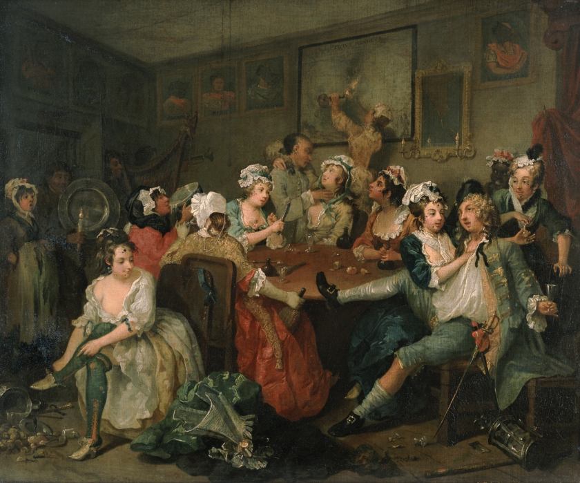 William Hogarth -- A Rake's Progress (The Tavern Scene)