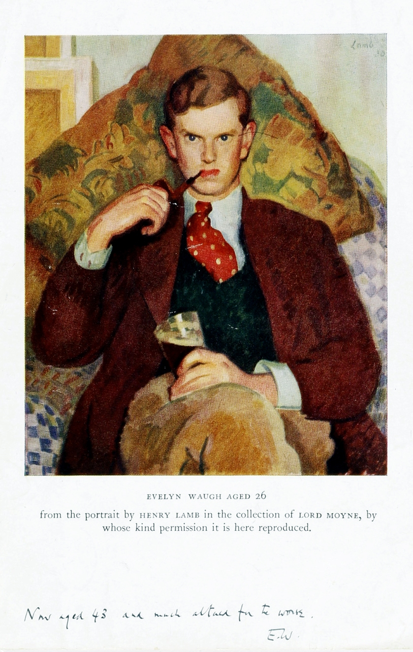 Evelyn (St. John) Waugh (1903-1966) was an English writer of novels, biographies, and travel books; he was also a prolific journalist and reviewer of books. Waugh is considered to be one of the great prose stylists of the English language in the 20th c. His most famous works include the early satires Decline and Fall (1928) and A Handful of Dust (1934) and the novel Brideshead Revisited (1945).