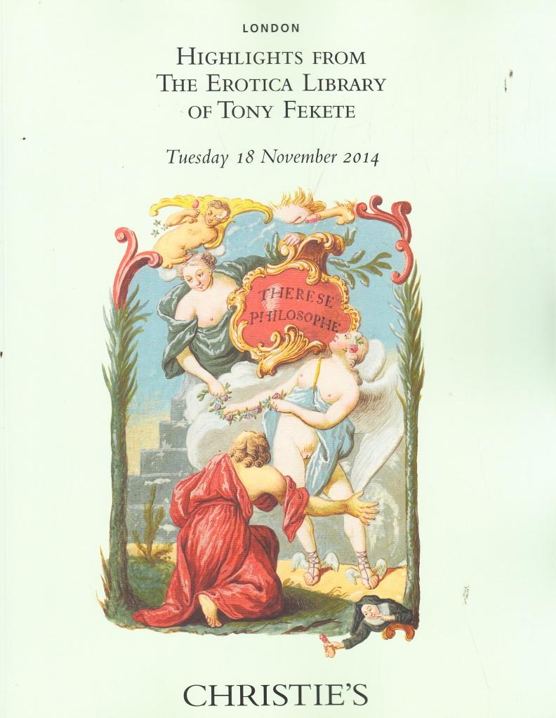 The Erotica Library of Tony Fekete -- 18th November, 2014, London