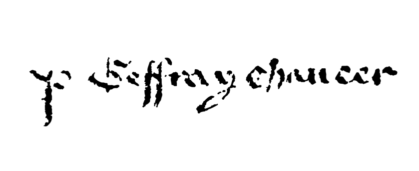 Geoffrey Chaucer's signature