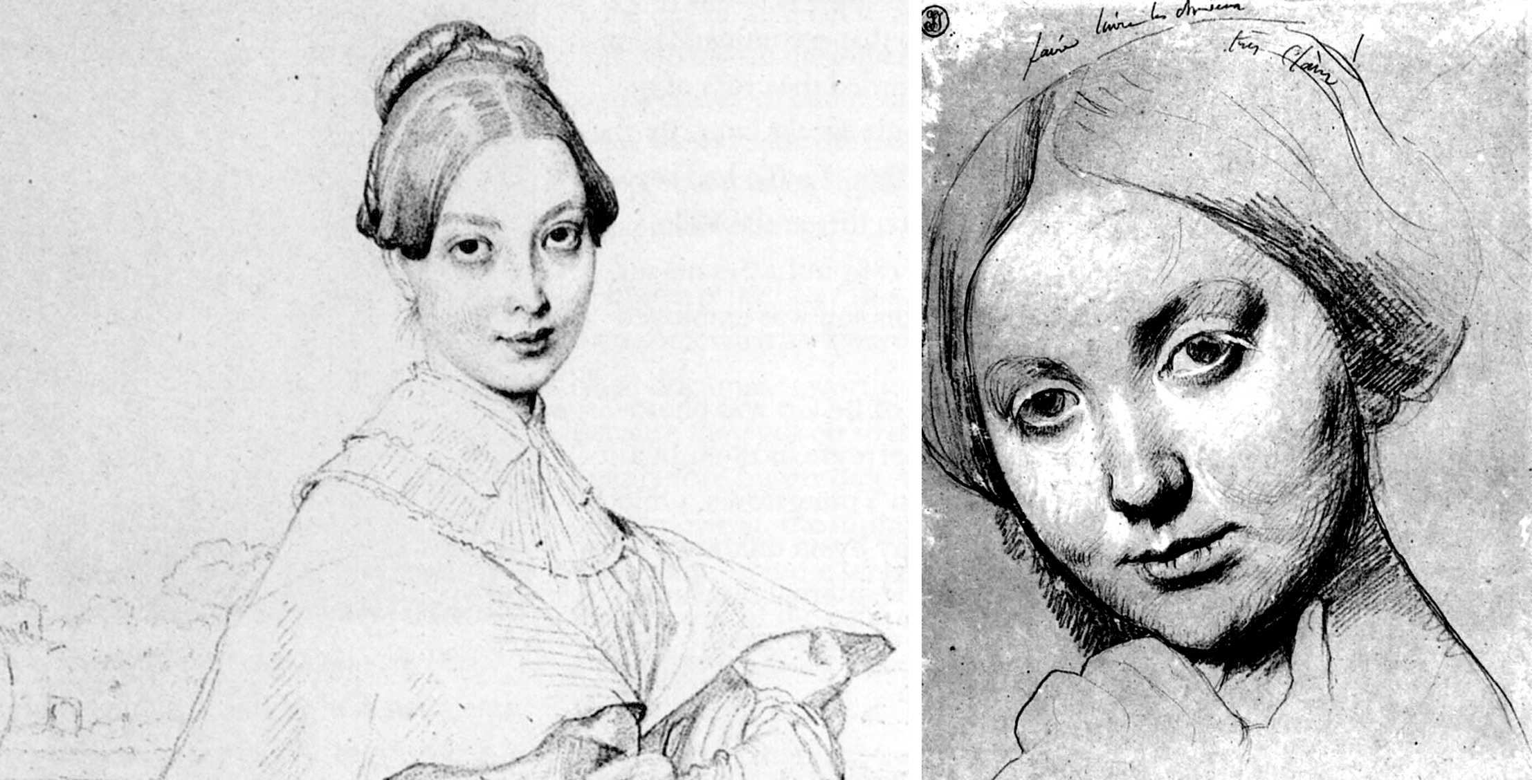 sketches by Jean Auguste Dominique Ingres