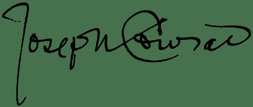 Joseph Conrad's signature