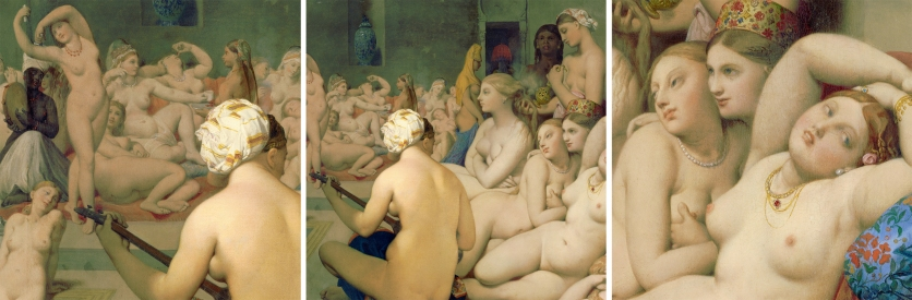 """The Turkish bath"" (Le Bain Turc) by Jean-Auguste-Dominique Ingres (1780–1867) (1862) @ Musée du Louvre, Paris."