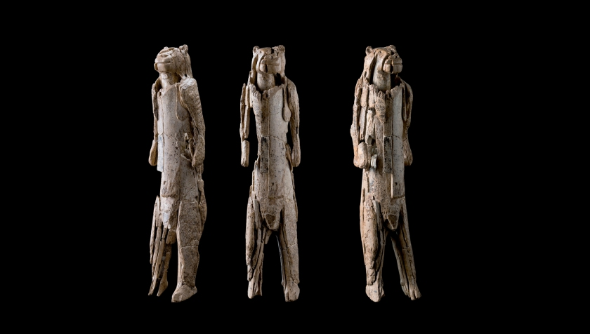 The Lion Man is a masterpiece that was found in a cave in what is now southern Germany in 1939. Sculpted with great originality, virtuosity and technical skill from mammoth ivory, this 40,000-year-old image is 31 centimetres tall.