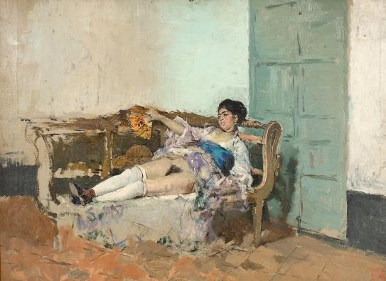 """""""Carmen Bastián"""" by Marià Fortuny (1838–1874) (c. 1871) @ Museu Nacional d'Art de Catalunya, Barcelona."""