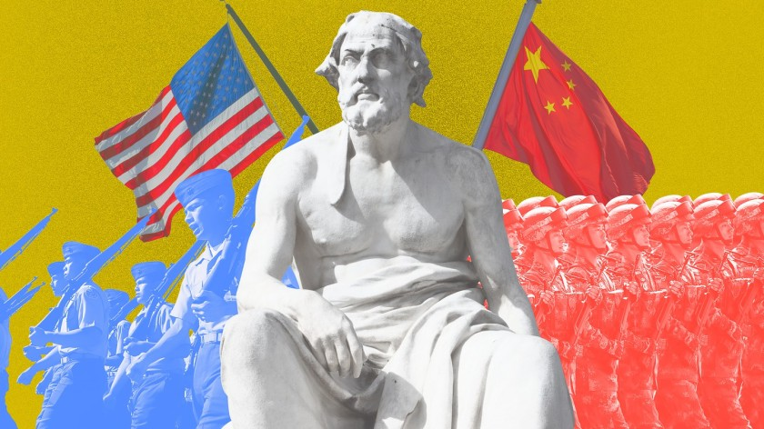 Over the past 500 years, these conditions have occurred sixteen times. War broke out in twelve of them. Today, as an unstoppable China approaches an immovable America, and both Xi Jinping and Donald Trump promise to make their countries 'great again', the seventeenth case looks grim. Unless China is willing to scale back its ambitions or Washington can accept becoming number two in the Pacific, a trade conflict, cyberattack, or accident at sea could soon escalate into all-out war. Photo credit: MIKE BLAKE - DAMIR SAGOLJ - REUTERS - ALESSANDRO0770 - SHUTTERSTOCK - ZAK BICKEL - THE ATLANTIC