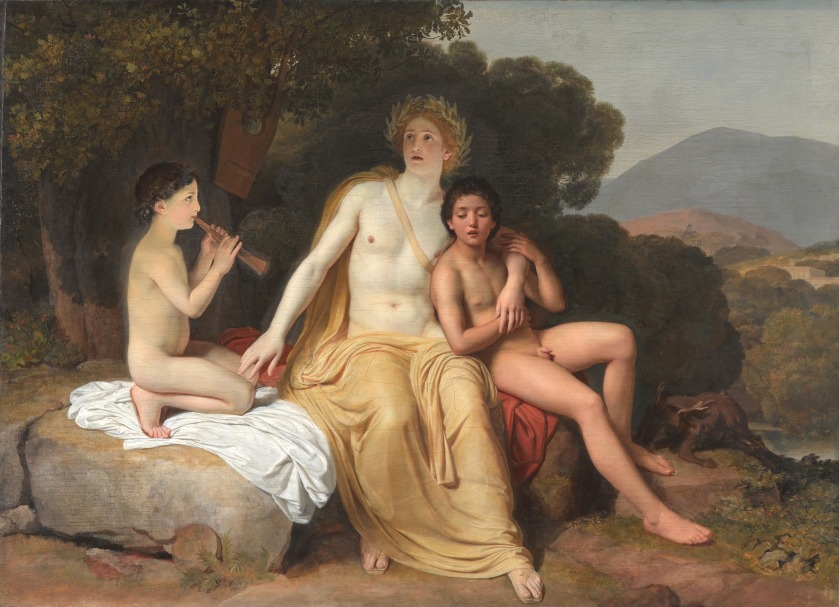 Apollo, Hyacinthus and Cyparissus making music