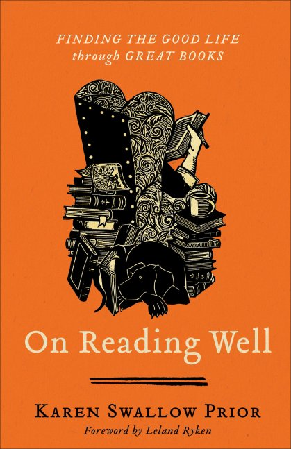 """""""On Reading Well: Finding the Good Life Through Great Books"""" by Karen Swallow Prior -- Reading great literature well has the power to cultivate virtue. Great literature increases knowledge of and desire for the good life by showing readers what virtue looks like and where vice leads. It is not just what one reads but how one reads that cultivates virtue. Reading good literature well requires one to practice numerous virtues, such as patience, diligence, and prudence. And learning to judge wisely a character in a book, in turn, forms the reader's own character."""
