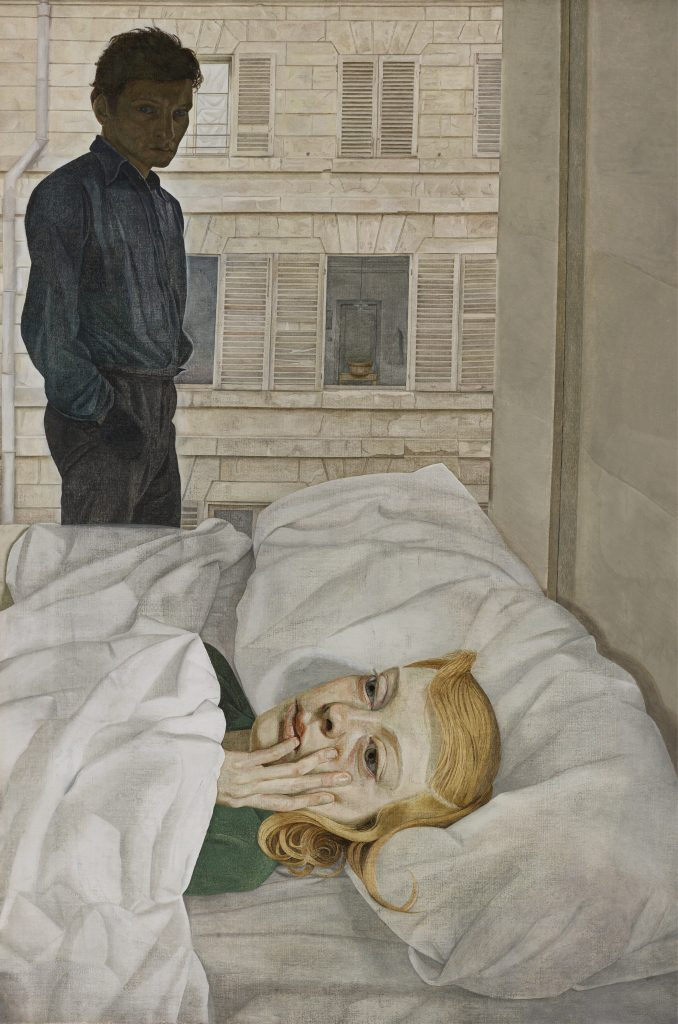 Lucian Freud, 'Hotel Bedroom' (1954) -- Oil on canvas