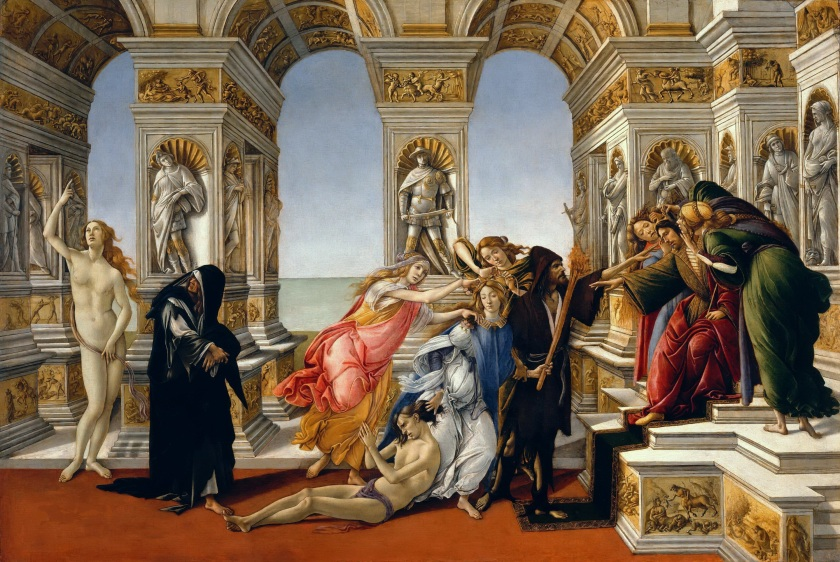 """""""The Calumny of Apelles""""by Sandro Botticelli"""