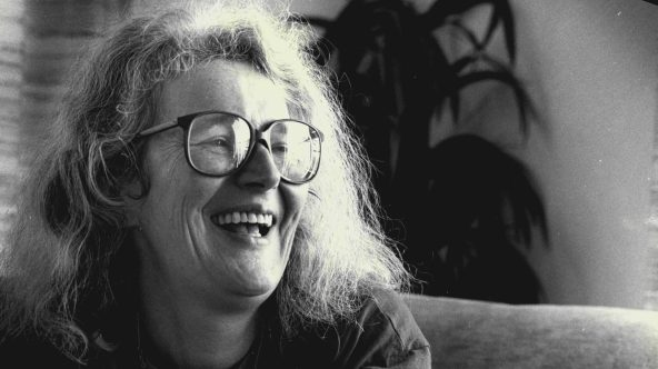 English Writer Angela Carter. September 23, 1987. (Photo by Doris Thomas/Fairfax Media via Getty Images).