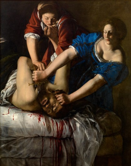 """Judith beheading Holofernes"" by Artemisia Gentileschi (circa 1613)."