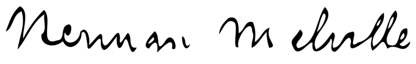 Herman Melville's signature