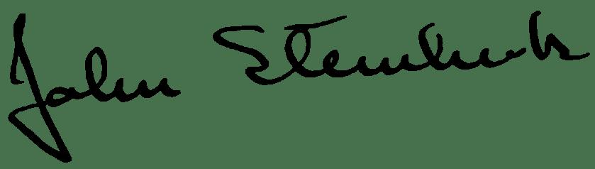 John Steinbeck's signature