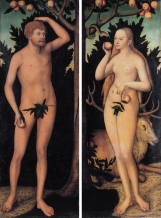 'Adam and Eve' by Lucas Cranach the Younger (1515–1586) (c. 1539)