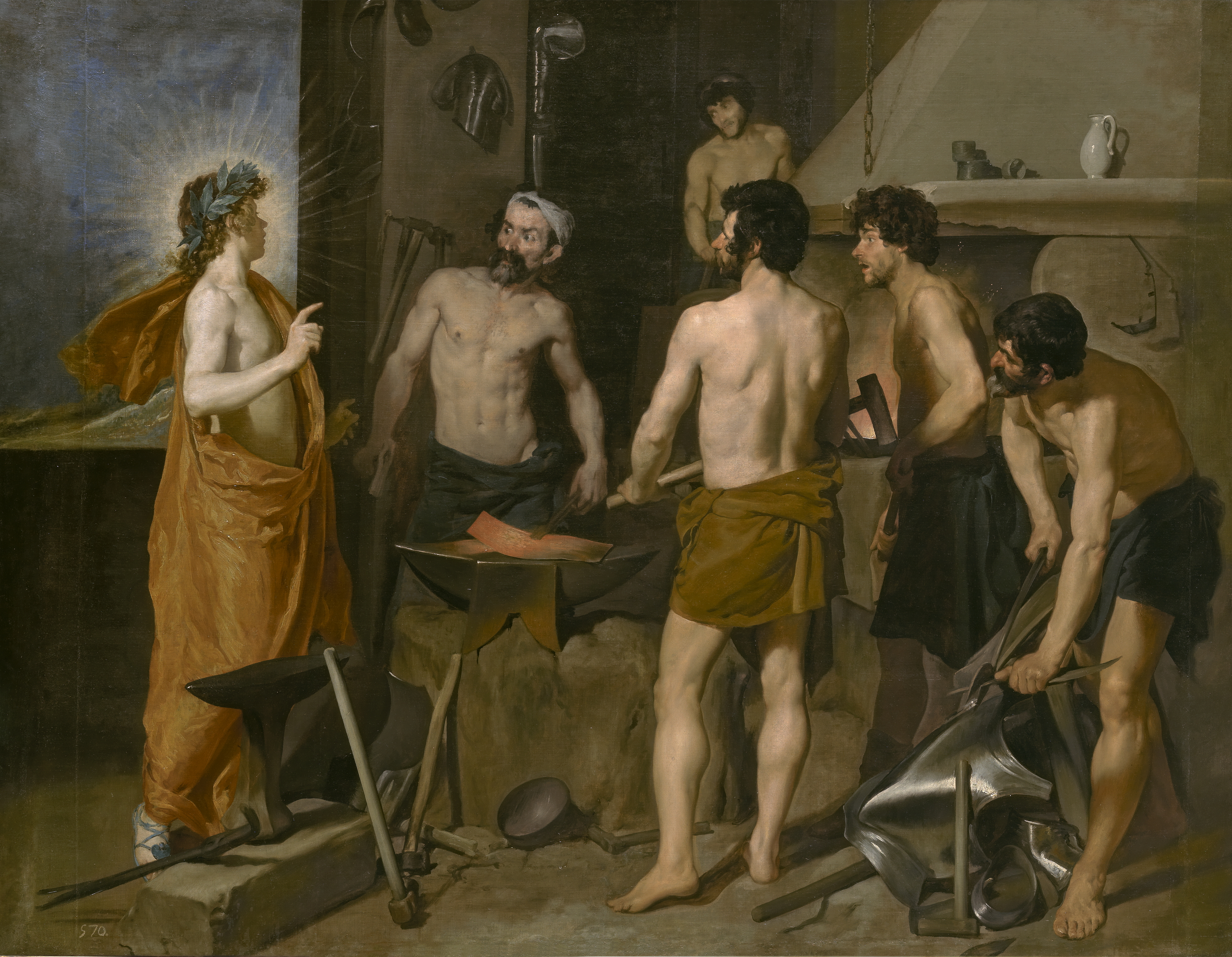 Apollo in the Forge of Vulcan (1630) by Diego Velázquez