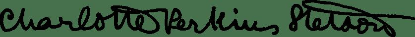 Charlotte Perkins Gilman's signature
