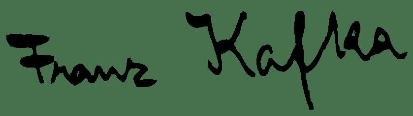 Franz Kafka's signature