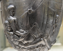 The Warren Cup is an ancient Greco-Roman silver drinking cup