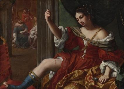 Elisabetta Sirani -- Portia_wounding_her_thigh