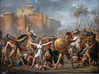 """The Intervention of the Sabine Women"" by Jacques-Louis David"